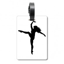 Dance Sports Dancer Performance Art Suitcase Bag Tag Luggage Card Hanging Scutcheon Label