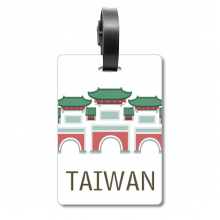 Taiwan Attractions Confucius Temple Travel Cruise Suitcase Bag Tag Tourister Identification Label