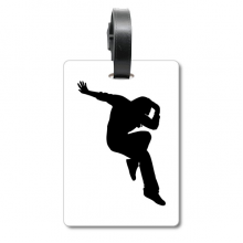 Hip Pop Jumping Performance Dancer Suitcase Bag Tag Luggage Card Hanging Scutcheon Label
