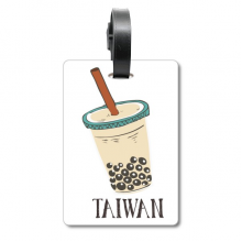 Drink Pearl milk tea Food Taiwan Cruise Suitcase Bag Tag Tourister Identification Label