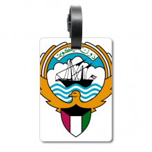 Kuwait Africa National Emblem Suitcase Bag Tag Luggage Card Hanging Scutcheon Label