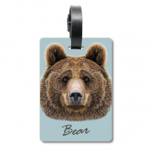 Giant Wild Brown Bear Animal Cruise Suitcase Bag Tag Tourister Identification Label