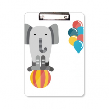 Amazing Funny Balloon Elephant Illustration Clipboard Folder Writing Pad Backing Plate A4