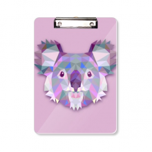 Australia Koala Image Cartoon Illustration Clipboard Folder Writing Pad Backing Plate A4