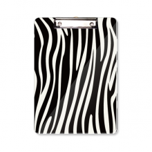 Black White Veins Pattern Background Clipboard Folder Writing Pad Backing Plate A4