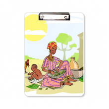 Black Women Child Totems African Aboriginal Clipboard Folder Writing Pad Backing Plate A4