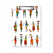 Black Women Totems African Dresses Clipboard Folder Writing Pad Backing Plate A4