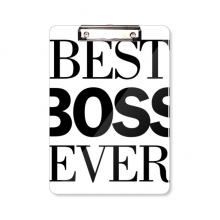 Best Boss Ever Quote Clipboard Folder Writing Pad Backing Plate A4