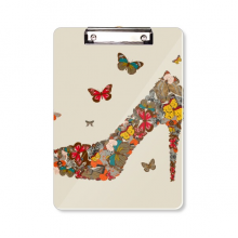 Butterfly and High Heel Shoes Clipboard Folder Writing Pad Backing Plate A4