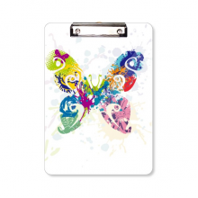 Butterfly with Floral Patterns Clipboard Folder Writing Pad Backing Plate A4