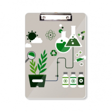 Chemical Reaction Tool Work Drum Chemistry Clipboard Folder Writing Pad Backing Plate A4