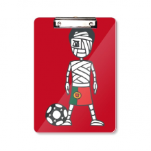 Portuguese Soccer Player Mummy Cartoon Clipboard Folder Writing Pad Backing Plate A4
