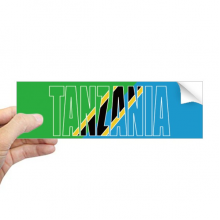 Tanzania Country Flag Name Rectangle Bumper Sticker Notebook Window Decal