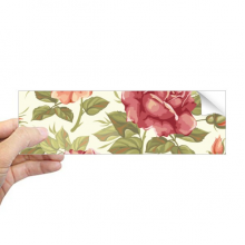 Antique Rose Watercolor Plant Flower Rectangle Bumper Sticker Notebook Window Decal