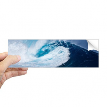 White Wave Sea Water Science Nature Picture Rectangle Bumper Sticker Notebook Window Decal