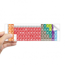 Cute Succinct Color Chemistry Periodic Table Rectangle Bumper Sticker Notebook Window Decal