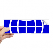 Earth Blue Square Warning Mark Rectangle Bumper Sticker Notebook Window Decal