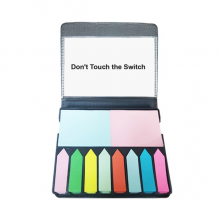 Don't Touch Switch Black Symbol Self Stick Note Color Page Marker Box