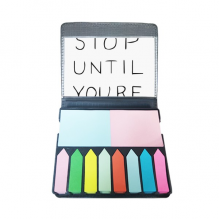 Don't Stop Until You're Proud Quotes Self Stick Note Color Page Marker Box
