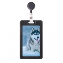 Dog Animal Snow Husky Picture Retractable Badge Reel Card Sleeve Case