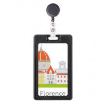 Italy Florence Landscape  National Pattern Retractable Badge Reel Card Sleeve Case