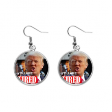 American Great Interesting Angry Image Ear Dangle Silver Drop Earring Jewelry Woman
