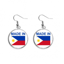 Made In Philippines Country Love Ear Dangle Silver Drop Earring Jewelry Woman