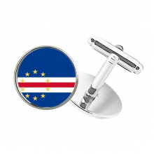 Cape Verde National Flag Africa Country Round Button Cuff Clip Stud Cufflinks