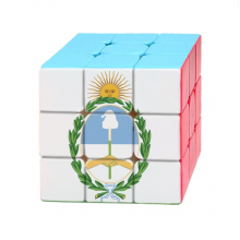 Buenos Aires Argentina National Emblem Magic Cube Puzzle 3x3 Toy Game Play