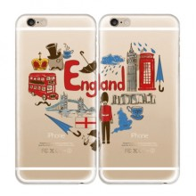 UK England Soft Transparent iPhone 6/6s Plus Couple Cases