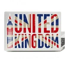 United Kingdom Illustration Laptop Skin Sticker