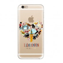 I Love London Soft Transparent iPhone 6/6s Plus Case