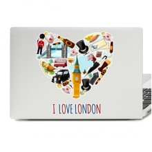 I Love London Laptop Skin Sticker