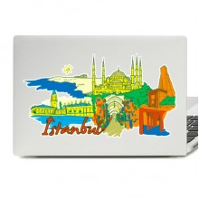 Istanbul Illustration Laptop Skin Sticker