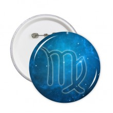 Virgo Zodiac Starry Night Sky Badge