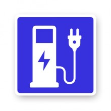 Charging Stations Symbol Electric Car Charging Point Sign Decor Sticker Car Stickers