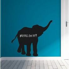 Cartoon Elephant Chalkboard Decal Sticker Home Decoration