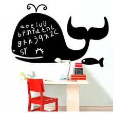 Happy Whale Chalkboard Decal Sticker Home Decoration