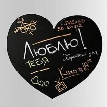 Heart Shape Chalkboard Decal Sticker Home Decoration