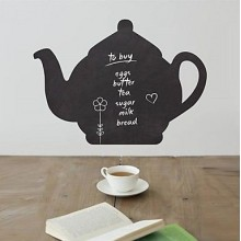Black Teapot Chalkboard Decal Sticker Home Decoration
