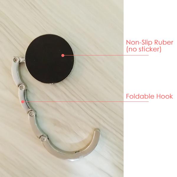 Text Veins Pattern Background Table Hook Folding Bag Desk Hanger Foldable Holder